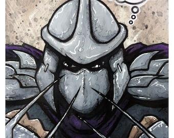 """The Shredder - 8x10 Art Print  - """"Splinter in My Mind"""" -  Teenage Mutant Ninja Turtles - Limited Edition Print"""