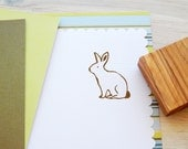 Sitting Bunny Olive Wood Stamp