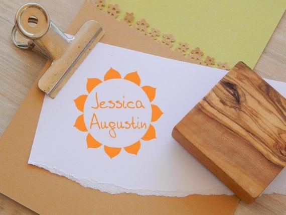 Little Sunshine Custom Olive Wood Stamp