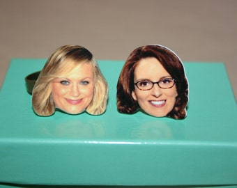 Set of Tina Fey/Amy Poehler Best Friend Rings Celebrity Inspired Jewelry