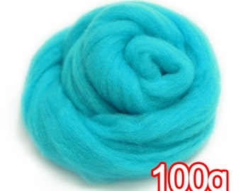 100g Super Fast felting Short Fiber Wool Perfect in Needle Felt and Wet Felt Blue Obsidian V305