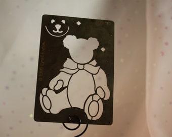 Teddy Bear Brass Stencil American Traditional 1995 LM-137