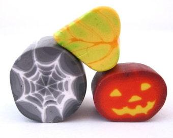 Jack O Lantern and Spider Web Polymer Clay Cane Tutorial