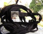 Sari Silk Recycled Ribbon Black