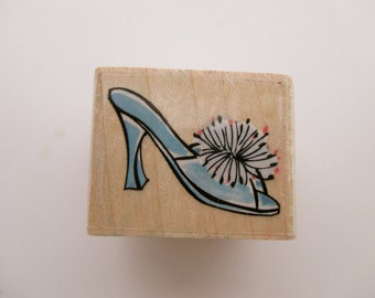 wood rubber stamp - Fuzzy Slipper, Rubber Stampede