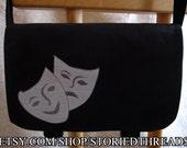 Drama Masks Messenger Bag