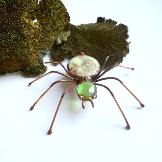 Handmade Stone and Glass Spider Rocky Perfect Gift for Entomologists and Bug Lovers
