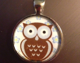 Cute Owl Image Pendant Necklace-FREE SHIPPING-