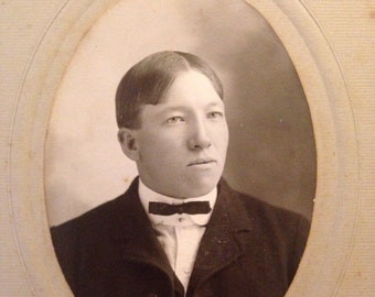Vintage Photograph Cabinet Card of A Young Man Turn of the Century