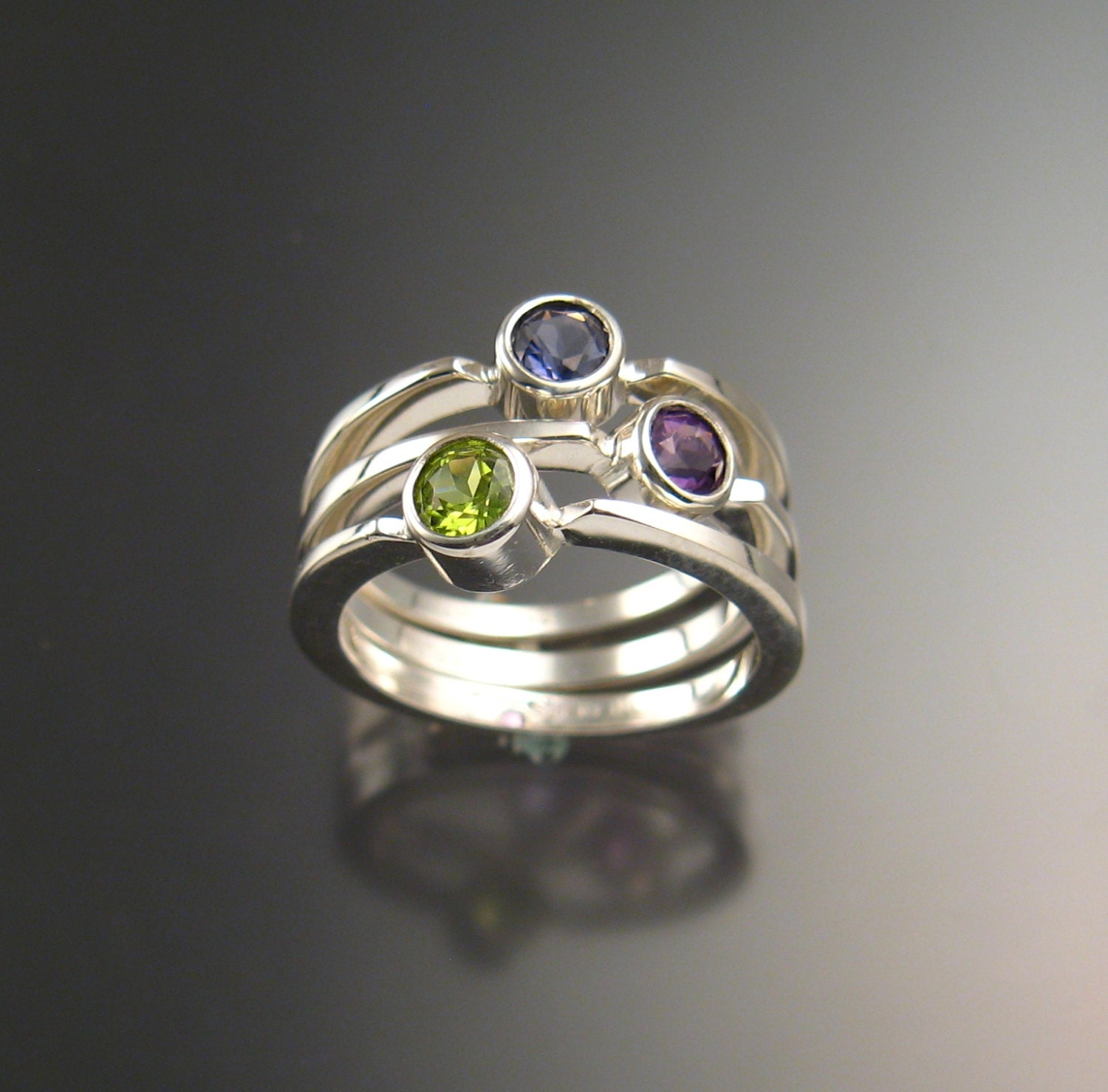 stackable mothers ring set of three rings made to order in