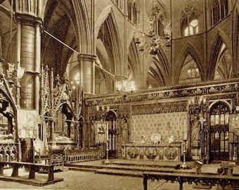 High Altar, Westminster Abbey, London, England - Unused Vintage Postcard