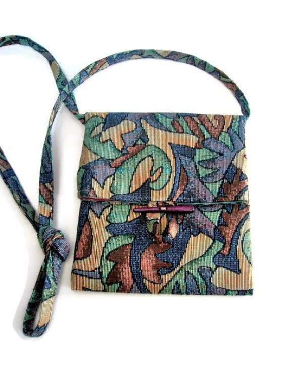 Small Shoulder Upholstery Fabric Bag Purse Sac Pouch