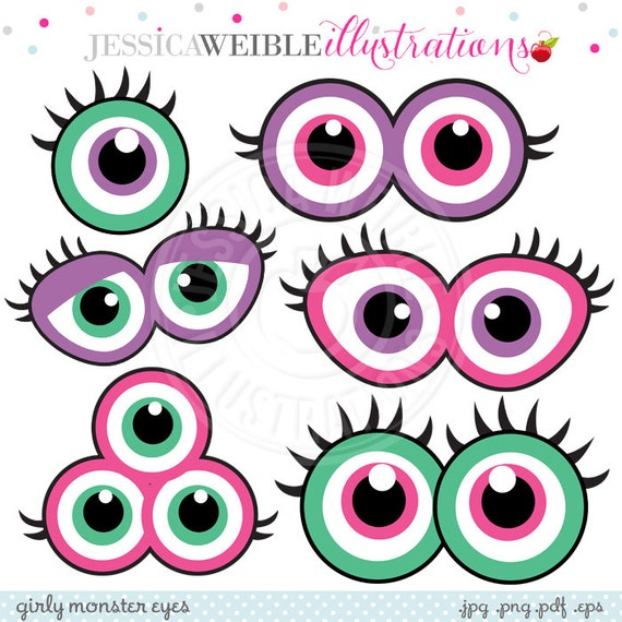 ... Party Favors - Printable Monster Eyes, Monster Faces, Pink Monster