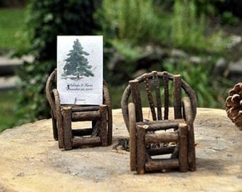 Mini Vine Chair Cake Toppers Wedding Adorondack Decorations - Great for Wedding Crafts - Place card Escort Cards
