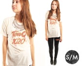 TEN Q 70s Retro Ten Q 1020 Thin Cotton Perfectly Worn Cotton Sockhop Music Graphic T Shirt Medium