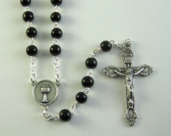 Black Holy Communion Rosary (98)
