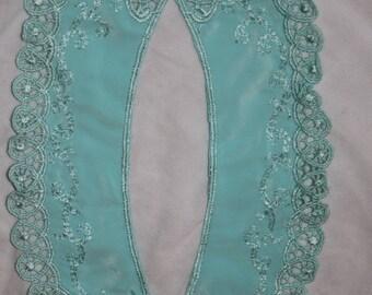Mint Seafoam Green Peter Pan Collar Sewing Supplies D14