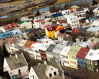 """Reykjavik from the Sky (11"""" x 14"""" photograph)"""