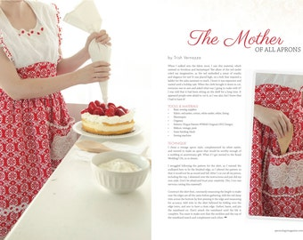 Apron Mother of all Aprons by Trish Vernazza Featured in Apronology Magazine 2014