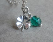 Shamrock Four Leaf Clover Necklace Lucky Charm Good Luck Clover St. Patrick's Day Jewelry