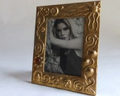 SALE - picture frame - for 5 x 7 photo - polished bronze