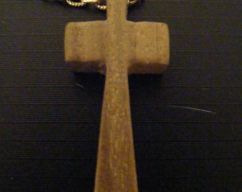 70s Wooden Cross, New Old Stock