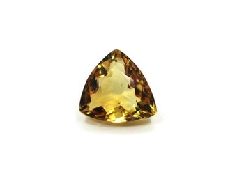 Genuine Faceted Citrine Quartz 11x11x12x6.5mm Trillion  5.00ct