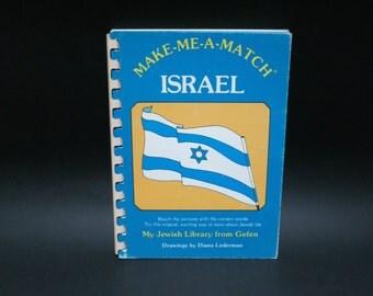 ISRAEL - Make me a Match - Children's Book 1988