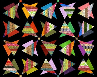 """RADIOACTIVE - 83.5"""" x 70"""" - Quilt-Addicts Pre-cut Quilt Kit or Finished Quilt King Single size"""