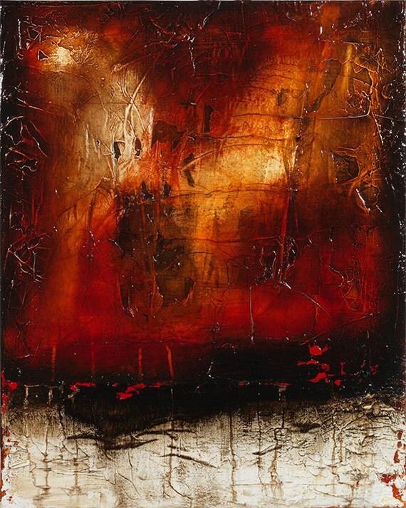 original abstract acrylic art painting 20 x 16 - texture room decor - clearance