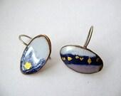 """handmade enamel jewelry-earrings """" Petals 2"""""""