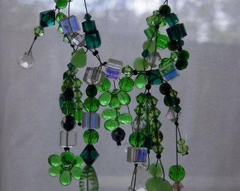 Gorgeous Green Swarovski Crystal Necklace