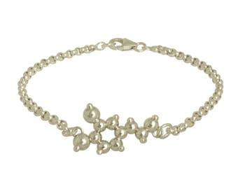 Dopamine Molecule Charm Bracelet - Sterling Silver