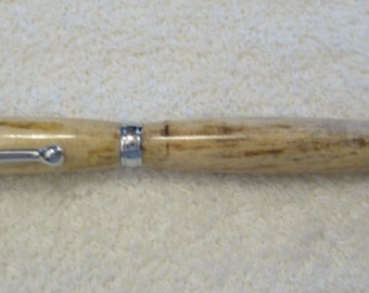 Handmade Spalted Elm Pen with Chrome hardware & CA Glue, Handcrafted, custom made, recycled wood, reclaimed wood, unique pen, turned pen,146