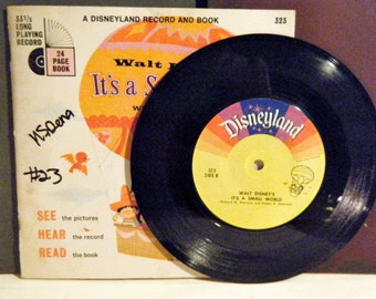 Disneyland Record Set, Full Story and Song, 33 1/3 RPM, It's a Small World, based on the Disneyland Ride