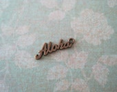 last Set of 50 antique bronze aloha charms