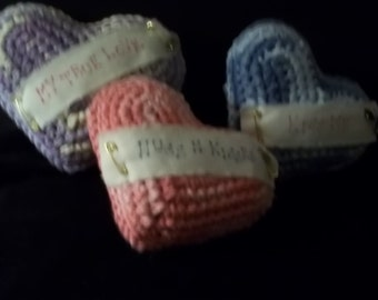 Set of Three Conversational Hearts