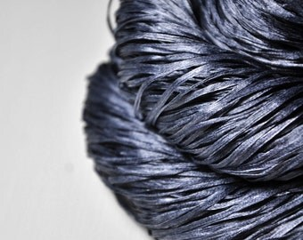 Stormy gray sea  - Silk Tape Lace Yarn - SUMMER EDITION