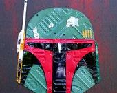 Boba Fett Star Wars Bounty Hunter License Plate Art Recycled on Board