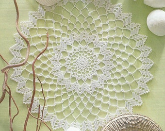 Crocheted Doily - Sea Shell free shipping