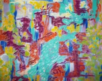 Wilderness Stream       Oil & Acrylic on Canvas  24X20X2