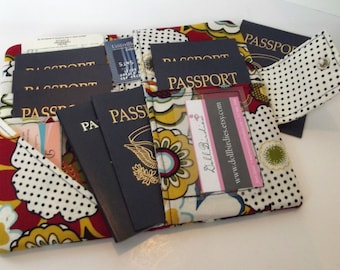 Dollbirdies Family Boarding Pass Passport Wallet