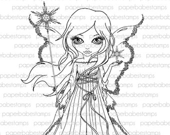 Digital Stamp - MayLeeDee Frost Fairy - Digital image for papercrafts