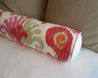 MANGO LINEN Long Bolster Pillow 7x27