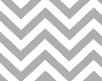 Steel (Gray) Chevron (Small) from the Half Moon Modern Collection, by Moda