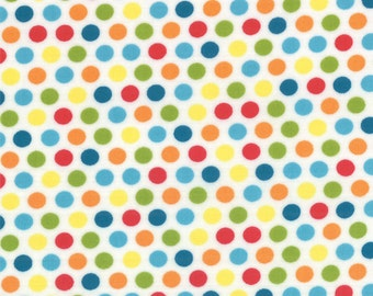 Spots (Polka Dot) in Jamboree (Red, Blue and Green) from the Mixed Bag Collection, by Moda, 1 yard