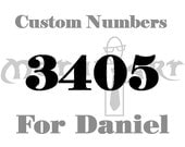 Custom Numbers For Daniel