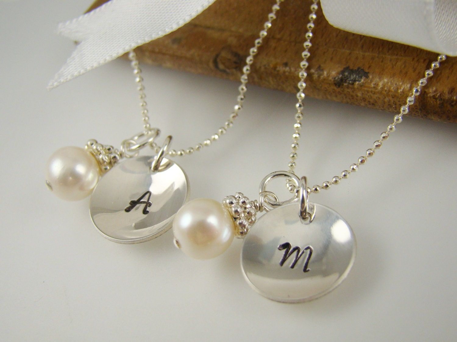 Personalized Flower Girl Necklaces Pearl Necklace Flower