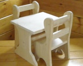 Handmade Farmhouse Style Table and Chairs for 18 inch doll