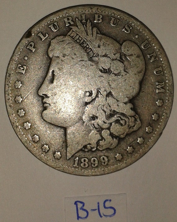 Items similar to 1899 morgan silver dollar coin circulated for Antique jewelry worth money